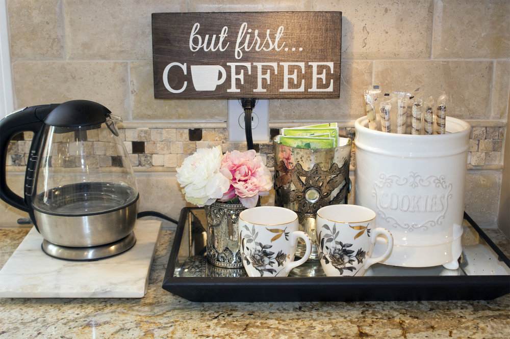 But First, Coffee. Inspire Me! Home Decor Coffee Station