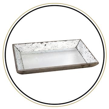 Antique Mercury Glass Tray