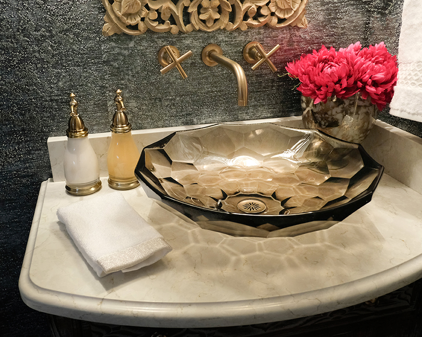 Farah Merhi Powder Room, Sink, Fixtures