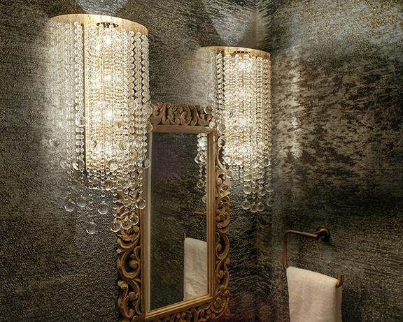 Farah Merhi Powder Room, Light Fixture