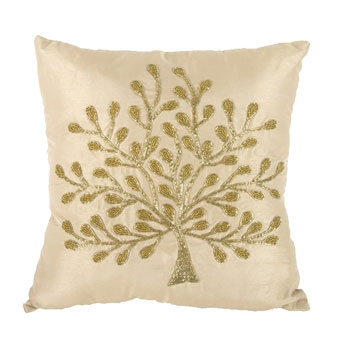 "Set of 2 18"" Beaded Pillows"