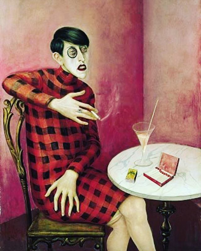 *listens to Fiona Apple for 5 mins* #fullfledgedmoment (Portrait of the Journalist Sylvia von Harden by Otto Dix, 1926)