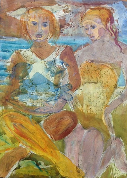 """Beach Life"" from the new series ""Figure Of Speech"" now exhibiting at the Marti Schmidt Gallery"
