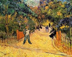 Painting of Arles Park Entrance