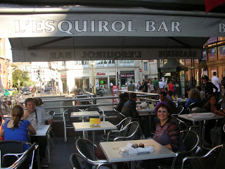 Marti At the L'Esquirol Bar, Toulouse , France