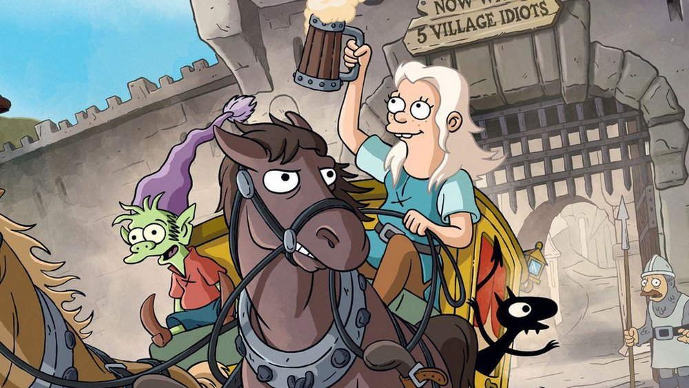 disenchantment - From the brain that brought you Futurama and The Simpsons comes Disenchantment - a show about the misadventures of the rebellious princess Bean, her personal demon Luci, and elf confidant Elfo. A lighthearted show perfect for your Friday nights.Available only on Netflix