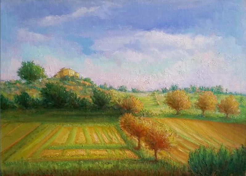 Sunny Tuscan Hills by Marsha Massih