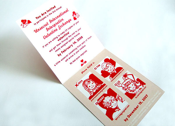 Valentine Exchange                  Invitation                      2012