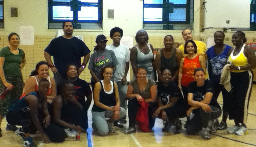 Down in front with my old Zumba crew.