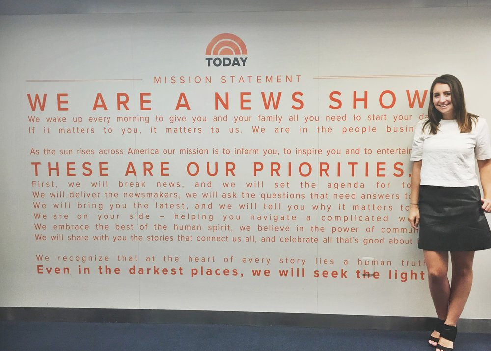Internship at NBC News: Sarah Barth, Class of 2017