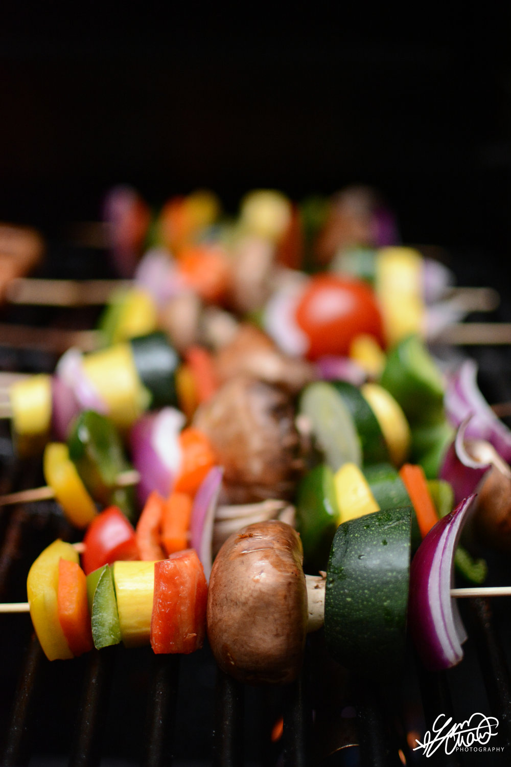 Delicious veggie kebabs, catered by  Eugenia Telio