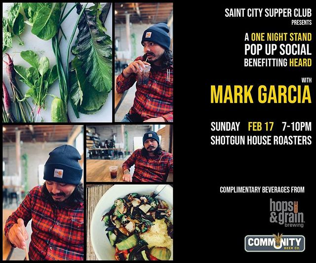One week left until our One Night Stand pop up with Mark Garcia. No tickets needed...just show up and enjoy!