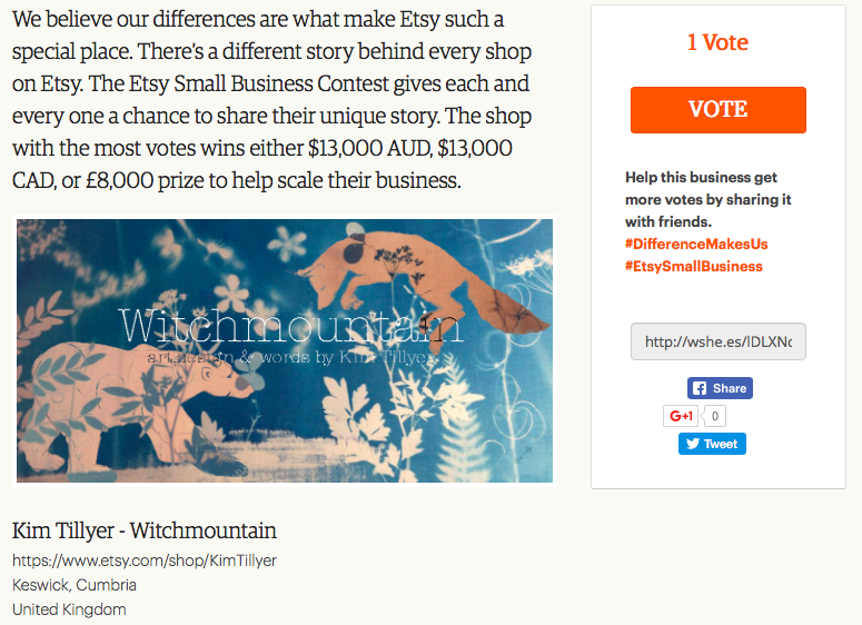 Etsy Competition #DifferenceMakesUs