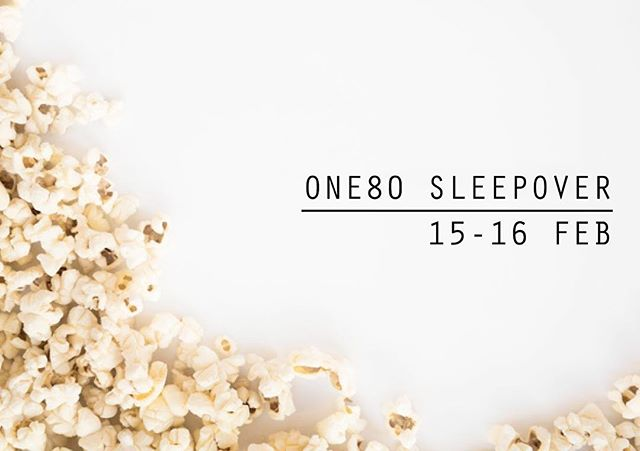 Don't forget to bring your PJ's, sleeping bag and toothbrush for the One80 sleepover! We'll have a split boys and girls night after youth so get EXCITED! 😴