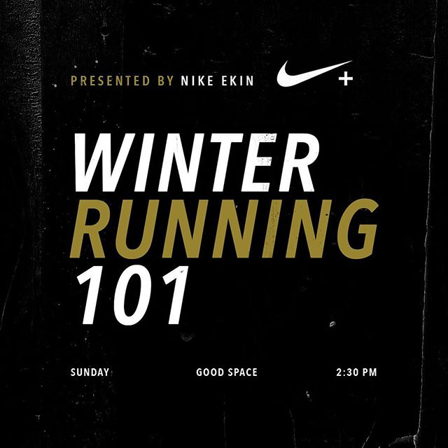 Double tap if you've been wanting to join @badgirlsrunclub on some winter runs but fear losing your toes to this brutal weather 🙋🏽‍♀️ Fear not Bad Gal. Tomorrow our @NIKEtoronto fam will be joining us @GoodSpaceTO for an exclusive EKIN Winter Running 101 session to school us on the art of layering.  _ ⠀  THE DEETS | @Niketoronto EKIN session @2:30-3:00 PM with @ekuacudjoe | followed by 7KM or 11KM steady long run | + 30mins stretch / meditation with @megangraceyalex founder of Good Space.  _ ⠀  About EKIN | An EKIN (Nike spelled backwards) is a Nike specialist that knows the brand and product inside and out, forwards and backwards, as the name implies. EKINs help lead, coach, inspire and educate athletes on product details, functionality, and benefits in support of Nike's mission: to bring inspiration and innovation to every athlete in the world. _ ⠀ Have we mentioned that each BGRC run you attend this winter enters you for the chance to snag head-to-toe Nike swag (plus One Month Unlimited @GoodSpaceTo pass, Bad Girls Run Club jacket, a Mindful Meal Package from @thegoodsisgood , 60 min. Sports Massage @rebalancetoronto and a copy of 'Run Fast. Eat Slow' cook book by marathoner @ShalaneFlanagan). _ ⠀ See ya tomorrow at 2:30PM Good Space.