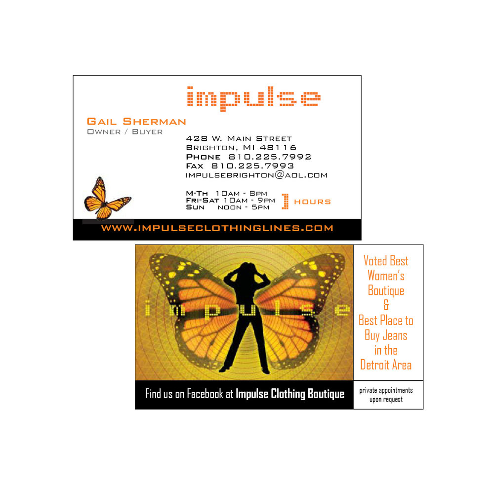 Impulse Clothing Boutique | Business Cards
