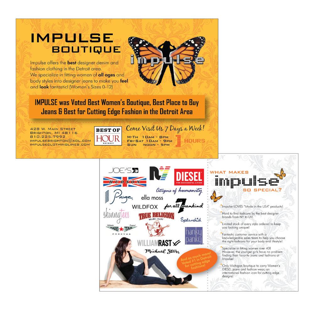 Impulse Clothing Boutique | Direct Mail Postcards