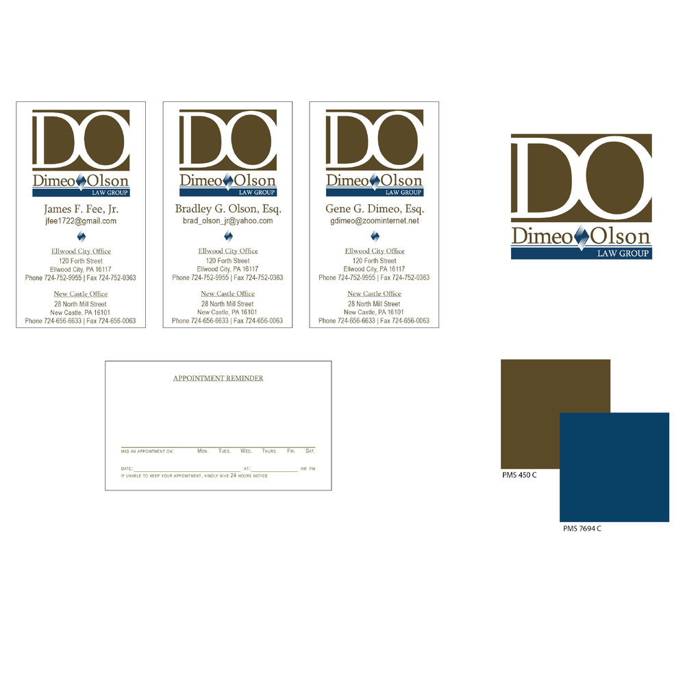 Dimeo Olson Law Group | Business Cards