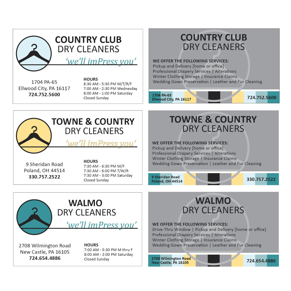 Towne + Country Dry Cleaners | Business Cards