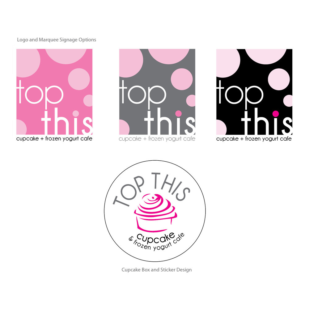 Top This Cupcake Cafe | Logo and Signage
