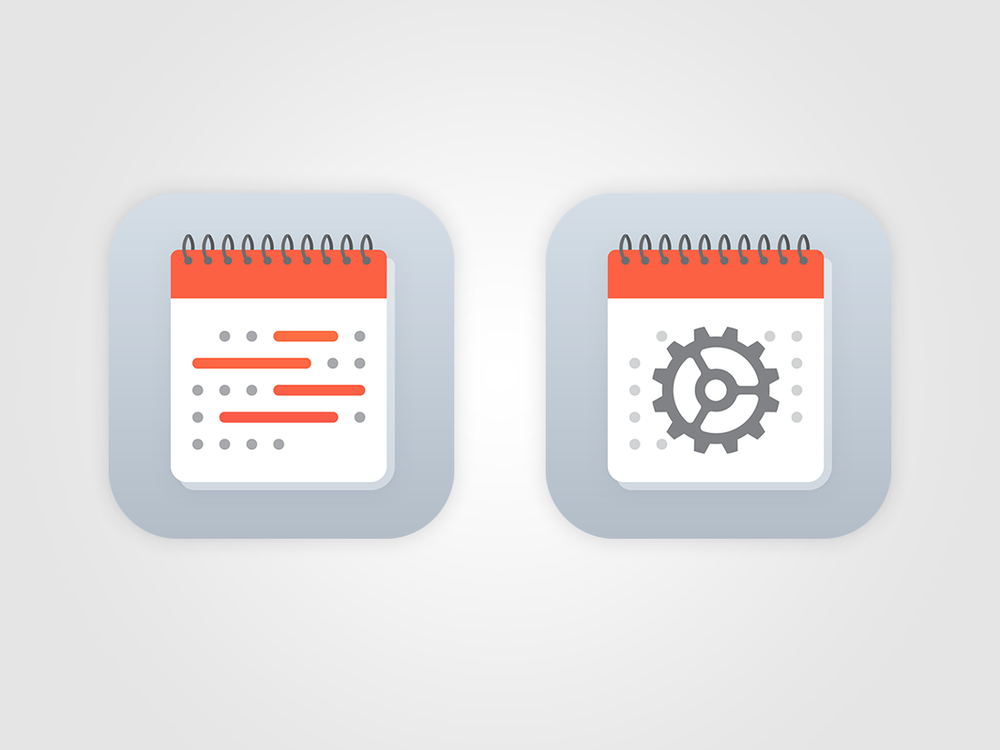Scheduling App Icons   for Apple Inc. Summer, 2015