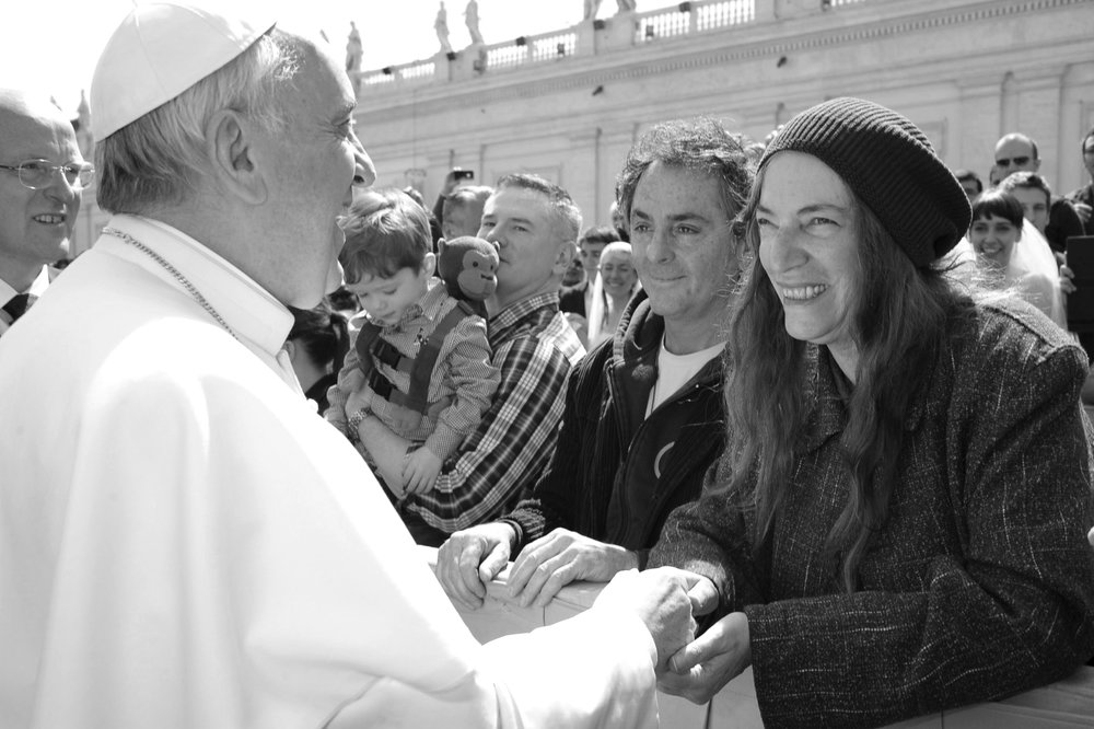 Pope Francis and Patti Smith, covered by Vulture