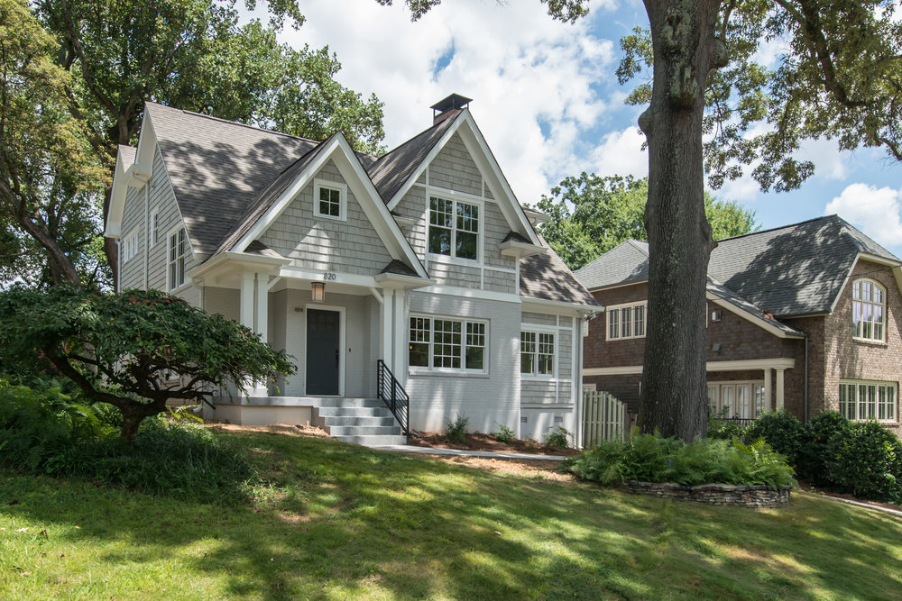 This Rundown Brick Home Was Transformed Into A Stylish New Tudor Featuring 4 Bedrooms And  Baths In One Of The Most Desirable Intown Neighborhoods