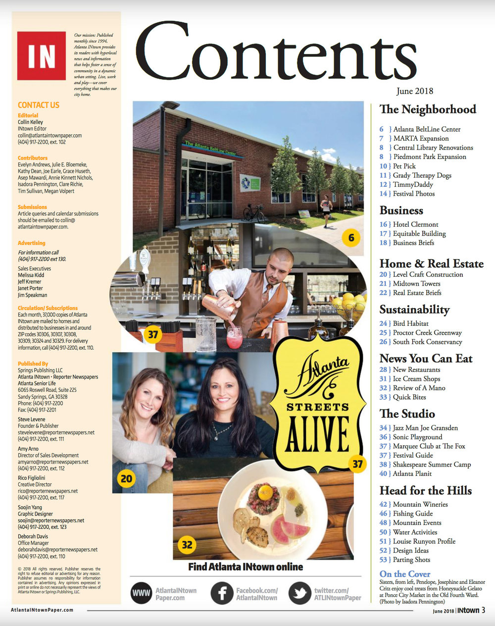 "What a great looking Content Page! Atlanta INtown has really become the ""go to"" for all things Atlanta."