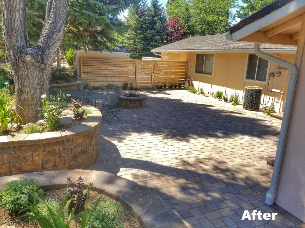 Patio and Fence After