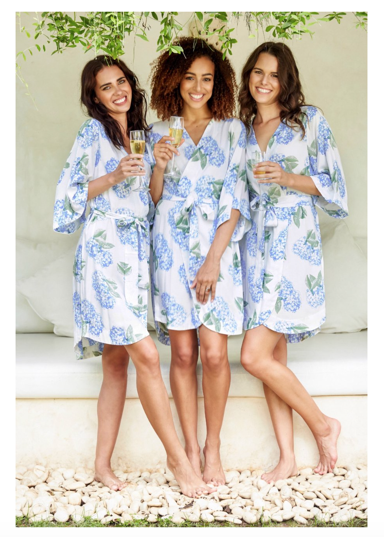 Hydrangea Robe - The Poppy Shop