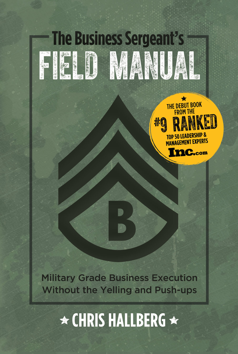 BUY THE BUSINESS SERGEANT'S FIELD MANUAL TODAY! - No one is more professional than I. I am a Business Sergeant, a leader of people. As a Business Sergeant I am proud of my team and will at all times conduct myself so as to bring credit upon them, regardless of the situation in which I nd myself. I will not use my position to modify or skirt the agreed upon rules. I follow the same rules as everyone else.I as a leader, I set the standard for others to follow.BUY E-BOOK NOW