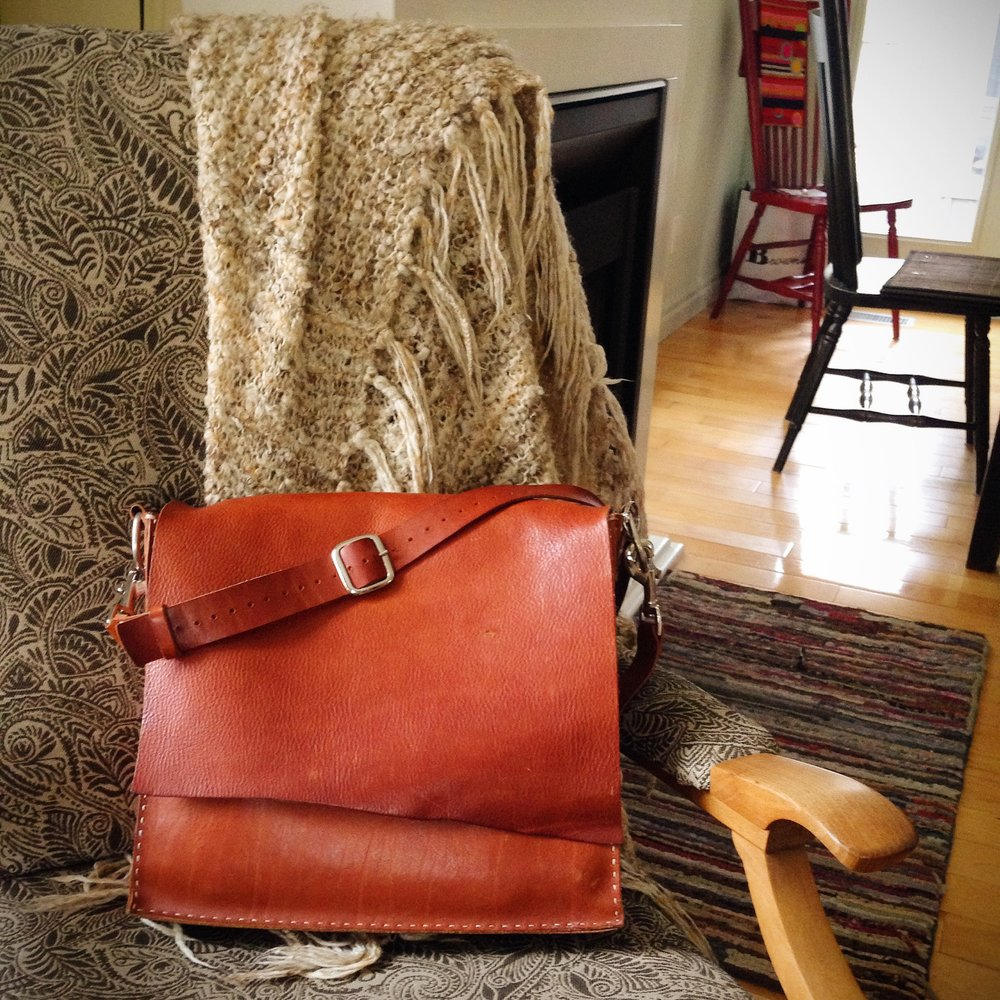 My first leather messenger bag