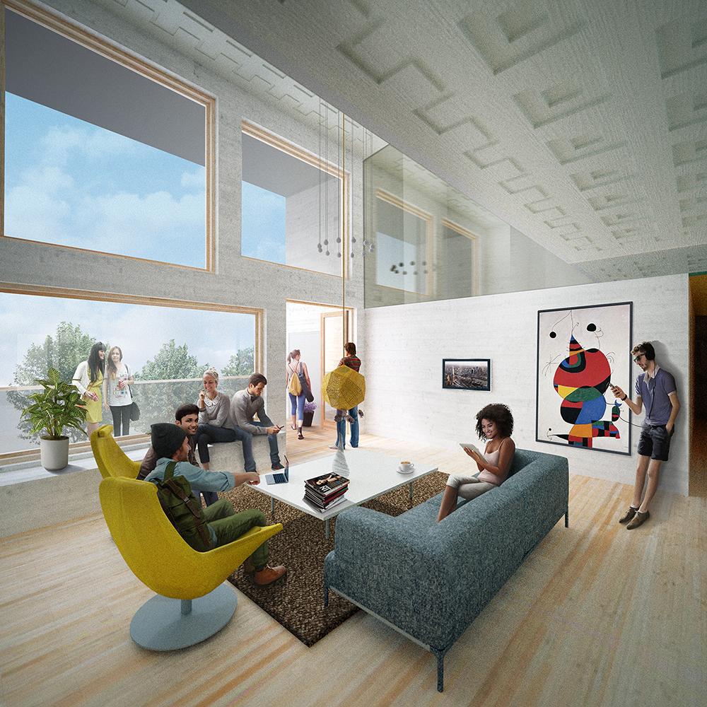 Boendekollektiv. Vision av det gemensamma vardagsrummet.