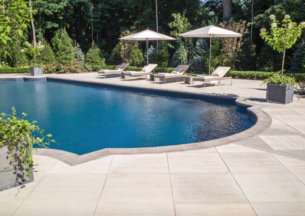 Pool Area Landscape Design In Long Island, NY