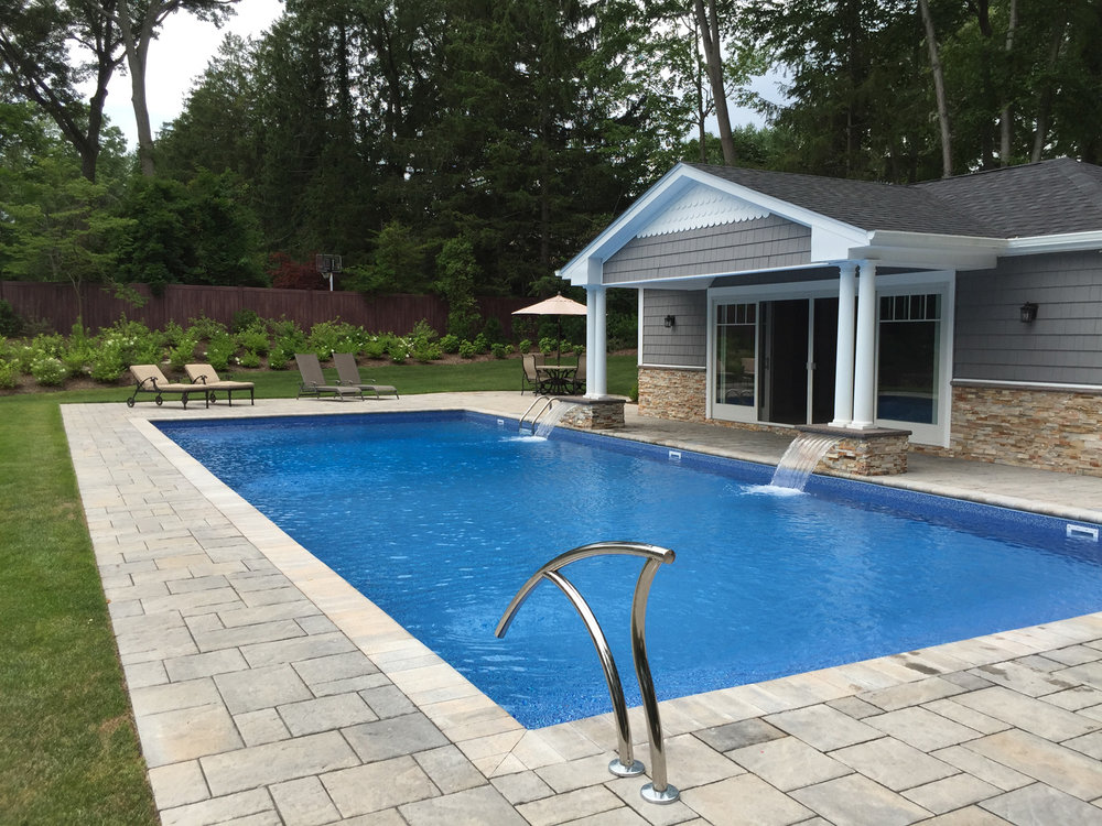 Professional pool patio landscape design company in Long Island, NY