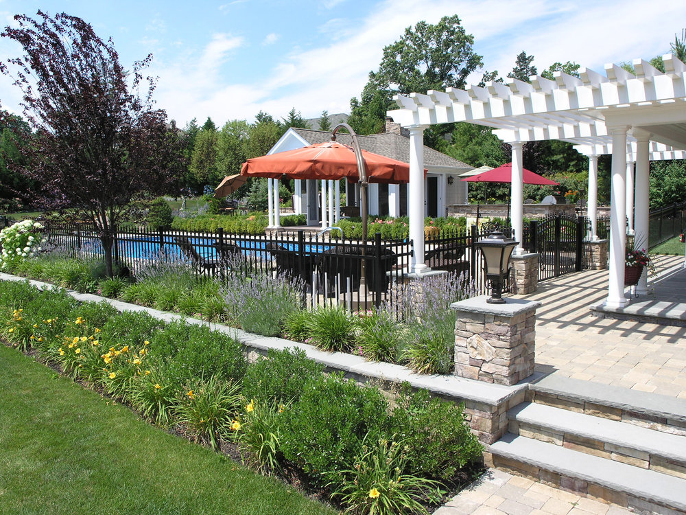 Professional pool cabana landscape design company in Long Island, NY