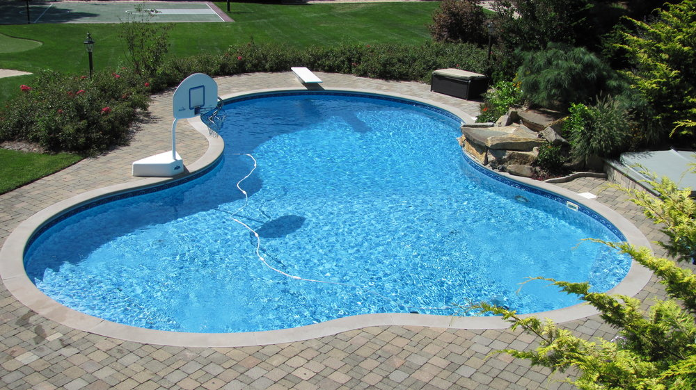 Professional pool design hardscape in Long Island, NY