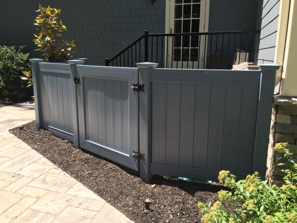 Professional vinyl fence landscape design company in Long Island, NY