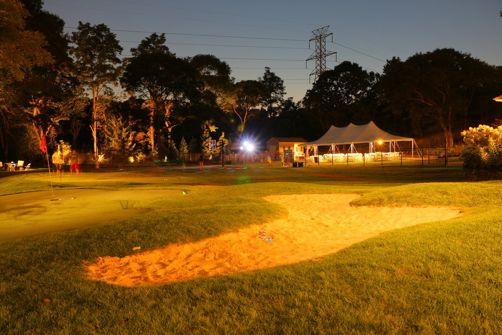 Landscape design with Halogen lighting in Long Island, NY