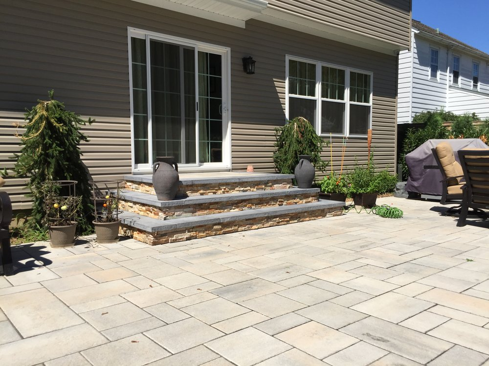 Landscape design with patio in Long Island, NY