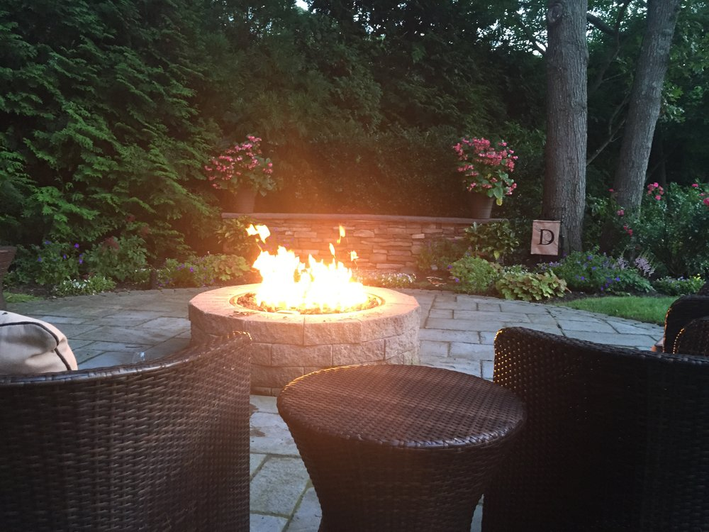 Professional fire pit landscape design company in Long Island, NY