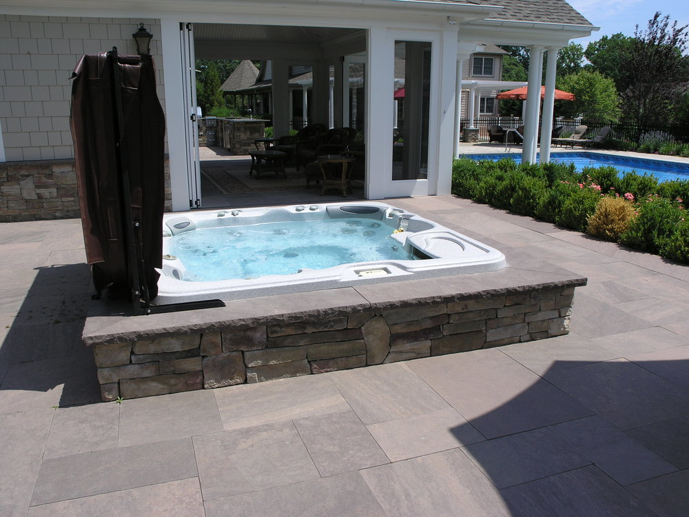 Professional outdoor spa landscape design company in Long Island, NY