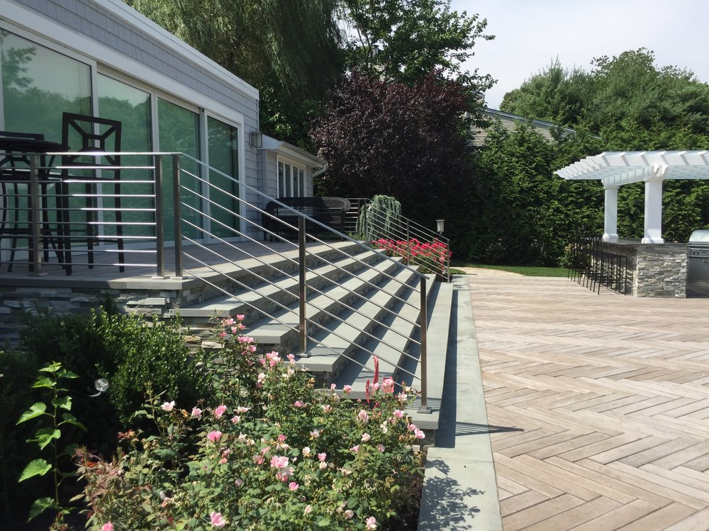 Professional step landscape design company in Long Island, NY