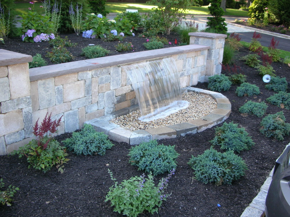 Professional pondless waterfall landscape design company in Long Island, NY
