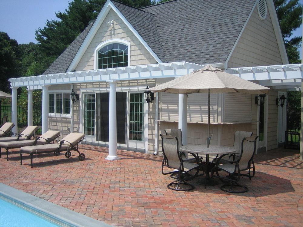 Professional pergola pool landscape design company in Long Island, NY