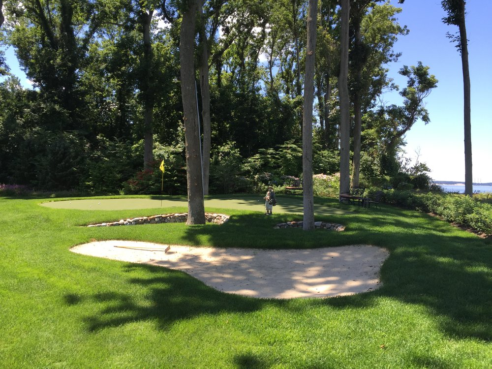 Landscape design with golf course in Long Island, NY