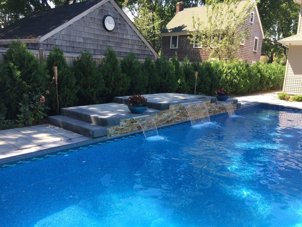 Backyard designs with techo pro in Southampton, NY