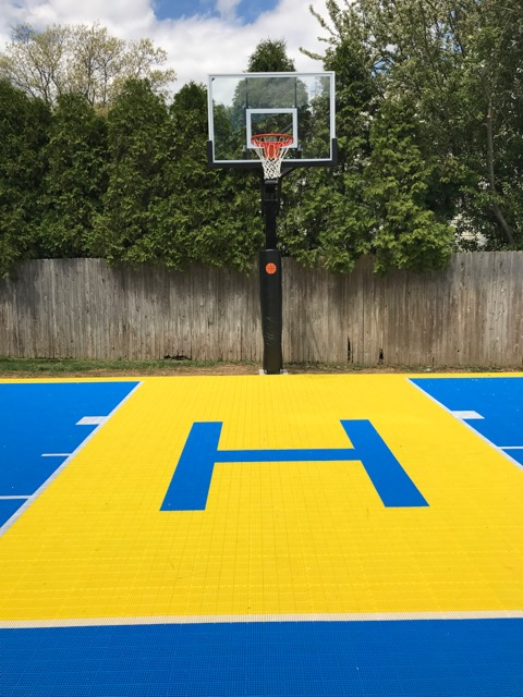 Basketball court installation in Long Island, NY