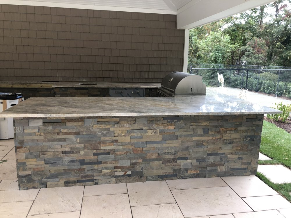 Long Island, NY top landscape architecture with an outdoor kitchen