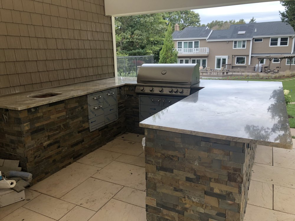 Outdoor Grill Landscape Architecture Old Westbury Southampton
